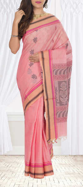 Light Pink Cotton Saree