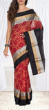 Red & Black Silk Cotton Saree