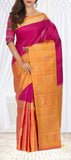 Magenta & Mustard Soft Silk Saree