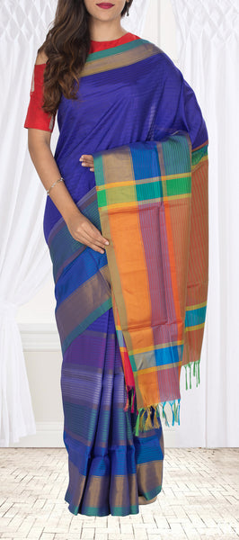 Purple Semi Soft SIlk Saree