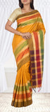 Mustard Soft SIlk & Jute Mixed Saree