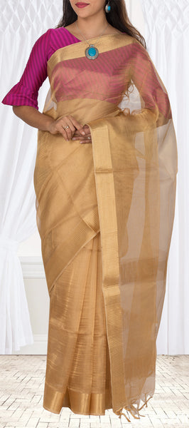 Gold Tussar Silk Saree