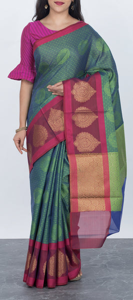 Dark Green Tanchui Saree