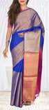 Dark Blue & Magenta Soft Silk Saree