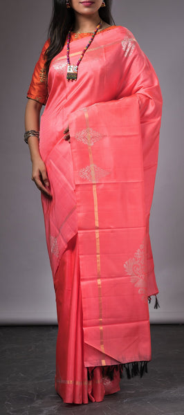 Light Pink Kanchipuram Silk Saree