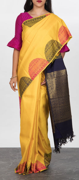 Yellow Pure Handloom Kanchipuram