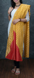 Yellow Semi Benarasi Dupatta
