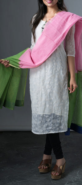 Pink and Green Dupatta