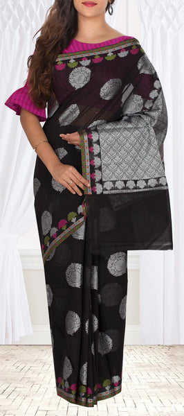 Black Organza Casual Saree