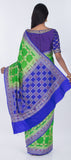 Green & Dark Blue Semi Patola Saree