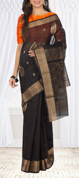 Black Silk Cotton Saree