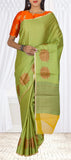 Cardamom Green Organza Casual Saree