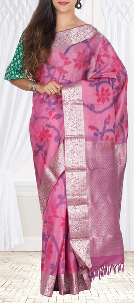 Lavender Soft Silk Saree