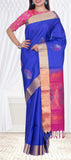 Royal Blue & Purple Pure Soft Silk Saree — Diwali Collection
