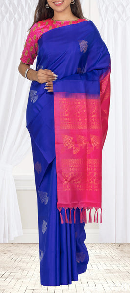 Purple & Pink Soft Silk Saree