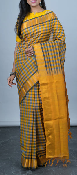 Yellow Traditional Silk Cotton