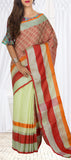 Light Green Linen Silk Saree