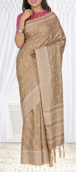 Beige Semi Tussar Casual Saree