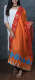 Orange Semi Silk Dupatta