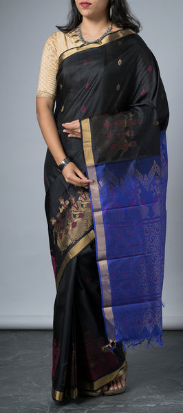 Black Softsilk Saree