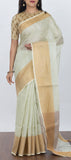 Pastel Green Linen Saree