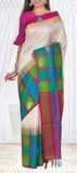 Off White Soft Silk Saree