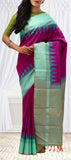 Magenta & Blue Pure Kanchipuram Handloom Pure Zari