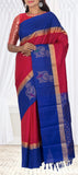 Magenta & Dark Blue Soft Silk Saree