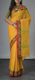 Ethnic Yellow Cotton Saree