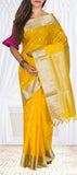 Yellow Lightweight Kanchipuram Handloom Silk Saree