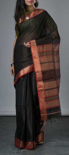 Traditional Black Silk Cotton Saree