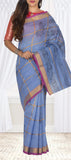 Light Blue Semi Silk Cotton Casual Saree