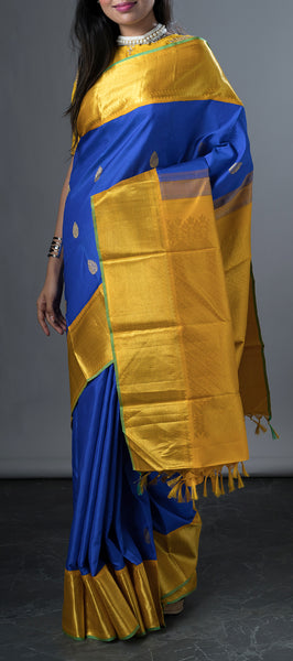 Royal Blue Kanchipuram Traditional Silk Saree