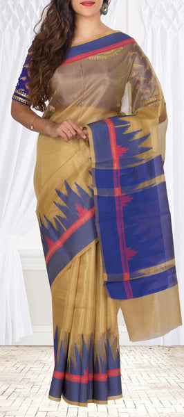 Gold Semi Kora Casual Saree