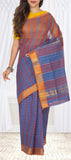 Dark Blue & Maroon Summer Cotton Saree