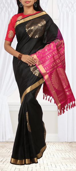 Black Soft Silk Saree