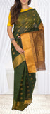 Olive Green Summer Cotton Saree
