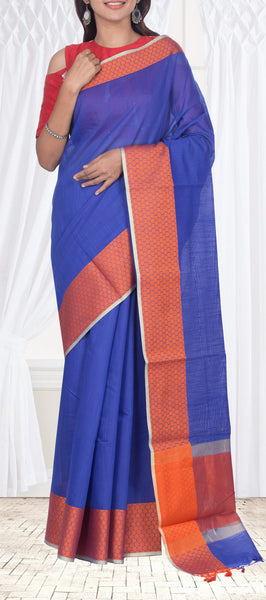 Simple semi silk cotton saree