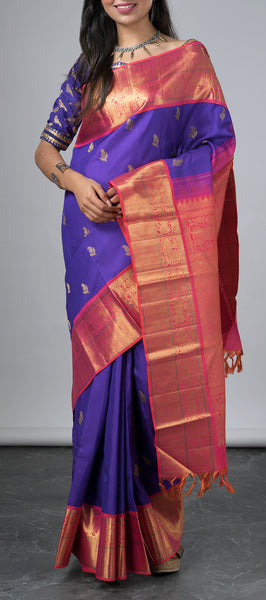 Royal Blue Kanchipuram Silk Saree