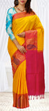 Yellow & Red Soft Silk Saree