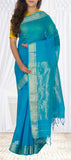 Evening Blue Maheshwari Cotton Saree