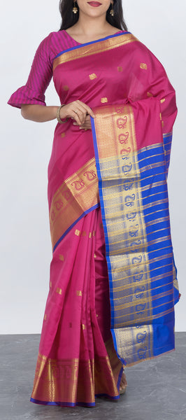 Traditional Semi Tussar Silk Saree