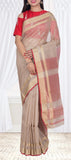 Brown & Maroon Silk Cotton Saree — Diwali Collection