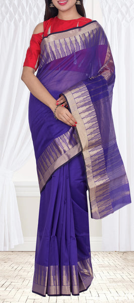 Dark Purple SIlk Cotton Saree — Diwali Collection