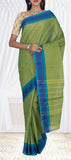 Green & Blue Simple Cotton Saree