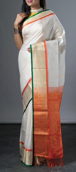 White Soft silk Saree