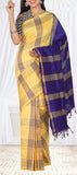 Yellow & Purple Semi SIlk Cotton Casual Saree