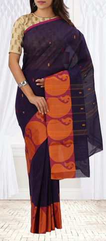 Dark Purple and Violet Summer Cotton Saree
