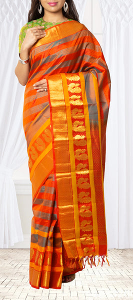 Multi-Colour Lightweight Kanchipuram Silk Saree