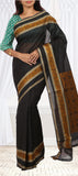 Black Embossed Summer Cotton Saree